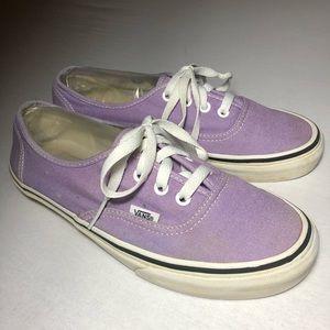 Vans Womens Authentic Anaheim Sz 7.5 lavender